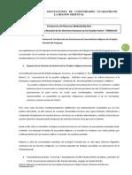 Informe de la Federación de Asociaciones de Comunidades Indígenas de la Región  Oriental del Paraguay.
