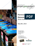 Florenceville Elementary School - Waste Audit Summary From May 8th, 2014
