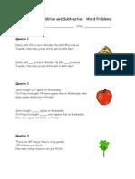 Grade2AdditionandSubtraction(I)