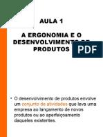 Aula 01 - Ergonomia e desenvolvimento de produtos