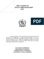 Pakistan National Bibliography 2013 English Version