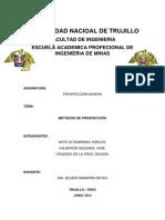Universidad Nacioal de Trujillo - Prospeccion
