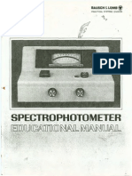 Bausch & Lomb Spectrophotometer Spectronic 20 Manual