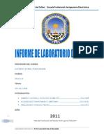 4to Informe Ley de Ohm