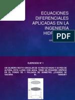 Ecuaciones Diferenciales Aplicadas en La Ingeniería Hidráulica