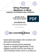 Drafting Pleadings With Mediation in Mind Litigating in the Enlightened Age of Mediation