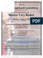 Evening Reception  for Cory Booker