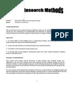 Syllabus Research Methods (1)