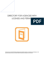 Directory for Departments for Licenses & Permits