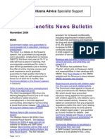 Welfare Benefits Newslatter 11-2009