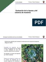 Tema 3 Riqueza y Curvas de Acumulación de Especies