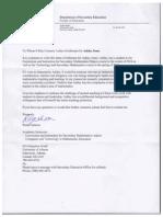 reference letter u of a - ashley jones