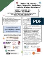 Citizenship Workshop July 26 2014 English & Spanish