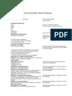 Model Cv-Curriculum Vitae European