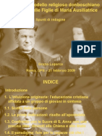 Grazia Loparco Riverberi Del Modello Religioso Donboschiano Nell'Istituto Delle Figlie Di Maria trice