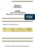 Your First XNA Game Resolution and Loading Content