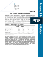 July 2014 Economic Update