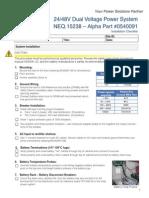 0540091-J1 a Installation Checklist