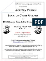 DSCC Senate Roundtable Breakfast Briefing