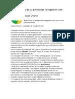 Características de Los Principales Navegadores Web