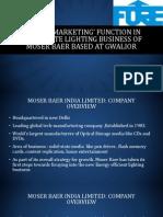 Moser baer research Presentation