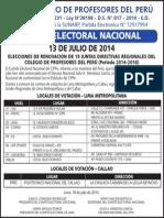 LOCALES DE VOTACIÓN - LIMA METROPOLITANA