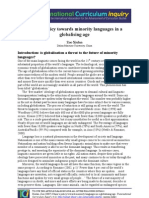 China's policy towards minority languages in a globalized age