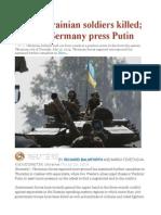 More Ukrainian Soldiers Killed; France, Germany Press Putin