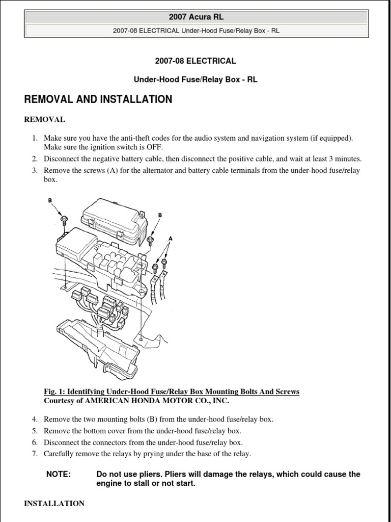 Under Hood Fuse Box | Electrical Connector | Fuse (Electrical) on
