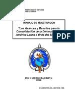 Avances y Desafíos de La Democracia by M. Bachelet