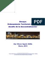 Ensayo - Descentralizacion de Lima  - Alvaro Ugarte
