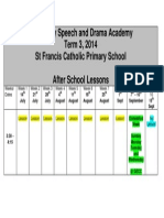 speech and drama lessons term 3 timetable afterschool