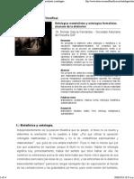 Revista Observaciones Filosóficas - Ontologías Materialistas y Ontologías Formalistas, Alcances de La Distinción