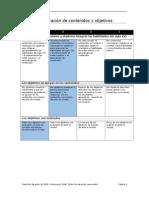matriz valoracion contenidos y objetivos jueves
