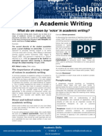 Voice in Academic Writing