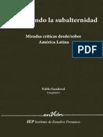 SANDOVAL, Pablo - Repensando La Subalternidad Miradas Criticas Desde o Sobre America Latina