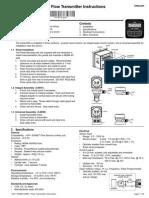 +GF+ SIGNET 8550-1 Flow Transmitter Instructions