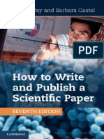 Hw to Write Scientific Paper