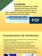 filtracion membranas