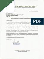 Carta a Dr Gaston Cajina