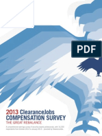 ClearanceJobs' Security Clearance Compensation 2013