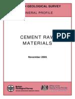 Cement Raw Materilas