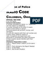 Columbus Division of Police 10 Codes