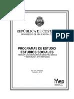 Propuesta Programa Estudios Sociales Secundaria