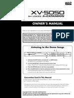 XV-5050 Manual