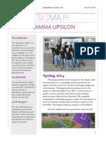 2014 Spring Active Chapter Newsletter