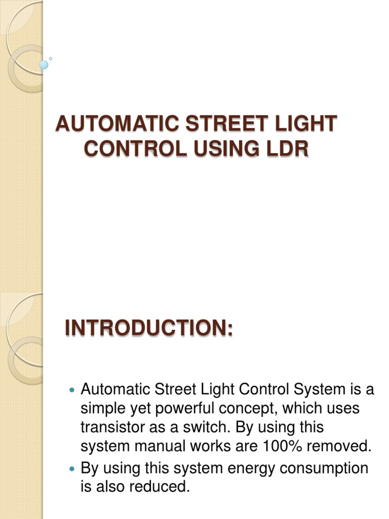 Automatic Street Light Circuit Diagram Using Ldr And Relay Trusted Control Power Supply