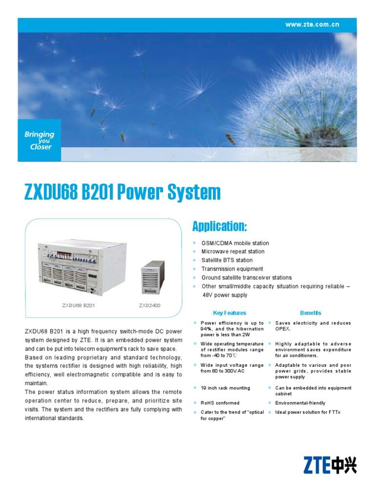ZXDU68-B201-Datasheet | Mains Electricity | Rectifier