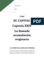 Marx, Carlos – El Capital, Capítulo 24