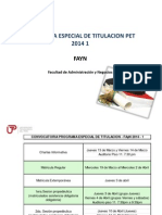 Charla Informativa Pet 2014 1